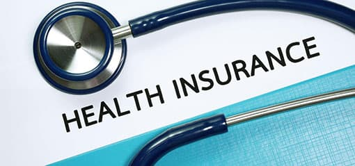 health insurance background with stethescopr